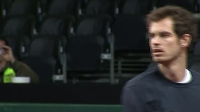 extra security in place for davis cup final; belgium: ghent: ext great britain tennis number one and davis cup team member andy murray from coach and... - davis cup stock videos & royalty-free footage