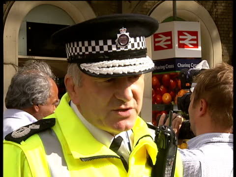 extra security measures following attempted car bombs in london and glasgow charing cross det chief constable andy trotter interview sot - charing cross stock videos and b-roll footage