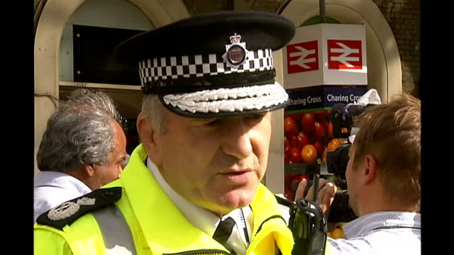 extra security measures following attempted car bombs in london and glasgow london charing cross ext deputy chief constable andy trotter interview sot - charing cross stock videos and b-roll footage