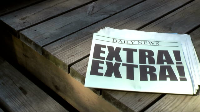 extra! (hd,ntsc) - paper stock videos & royalty-free footage