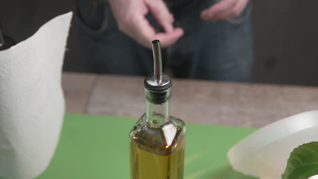extra virgin olive oil - pour spout stock videos & royalty-free footage