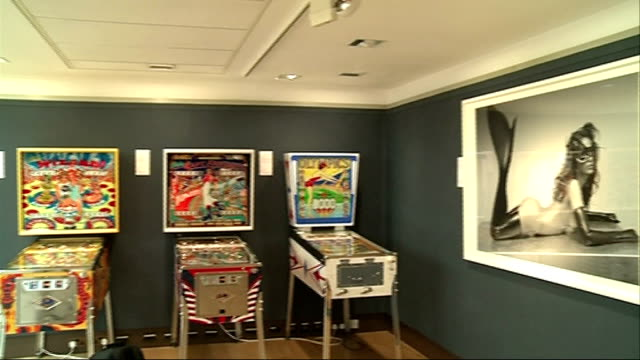 extraordinary items auction at christie's bell from the rms titanic / painting of sir winston churchill / turbine fan from a jet engine / flying... - pinball machine stock videos & royalty-free footage