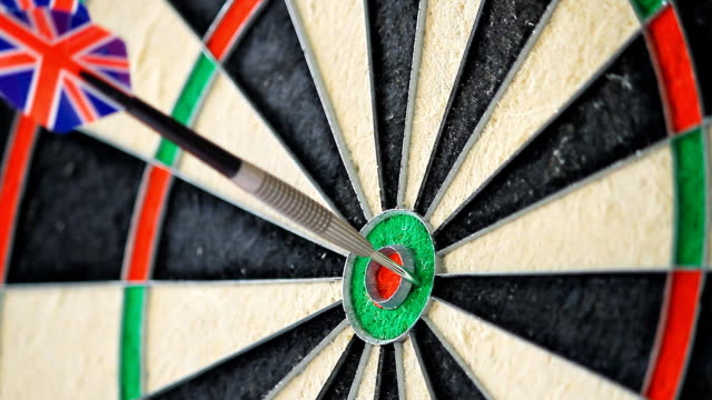 extreme accuracy - dart board stock videos & royalty-free footage