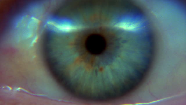 extreme close up blue eye blinking - eye stock videos & royalty-free footage