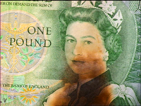 extreme close up burning british one pound note - british pound sterling note stock videos & royalty-free footage