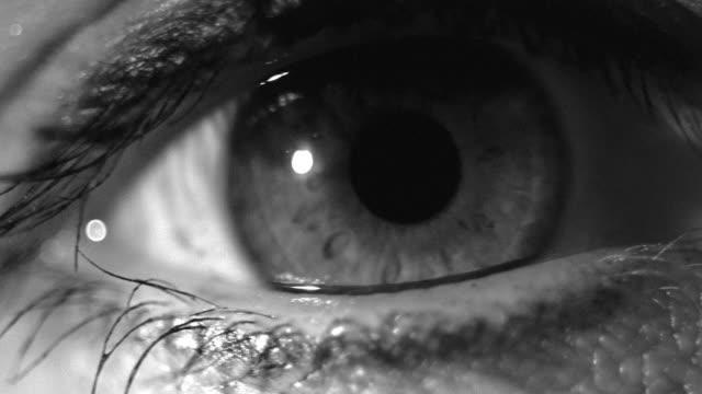 extreme close up eye opening - man blinking stock videos & royalty-free footage