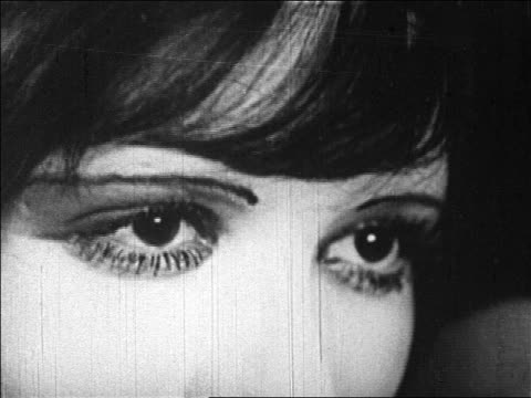 extreme close up eyes of flapper woman / feature - anno 1925 video stock e b–roll