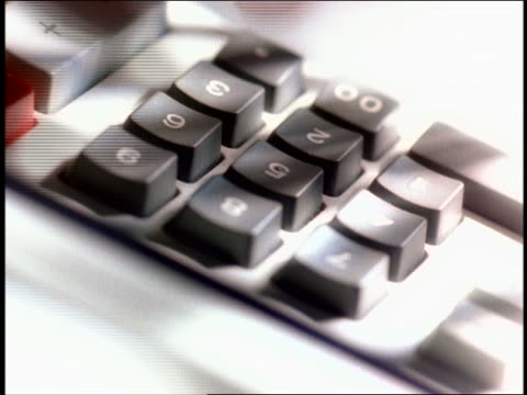 extreme close up fingers punching buttons of adding machine - calculator stock videos & royalty-free footage