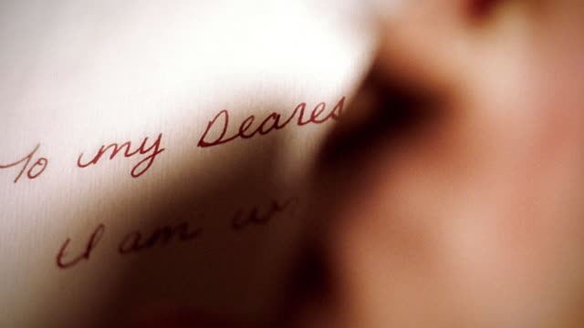 extreme close up hand writing love letter - note message stock videos & royalty-free footage