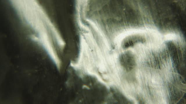 Extreme Nahaufnahme von Aluminium-Folie