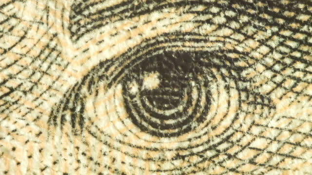 extreme close up of andrew jackson's eye on the $20 bill - twenty us dollar note stock videos & royalty-free footage