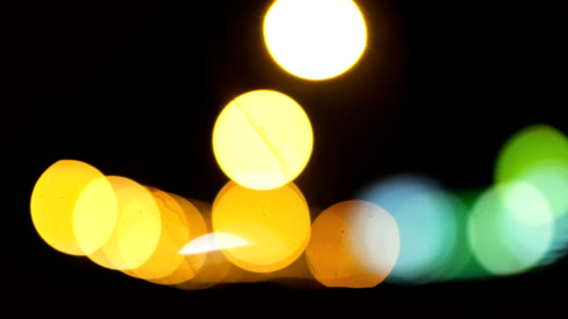 extreme close up of city lights - stoplight stock videos and b-roll footage