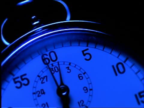 extreme close up of stopwatch / night - stop watch stock videos & royalty-free footage