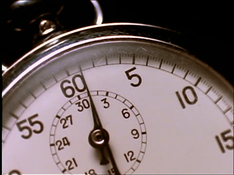 extreme close up of stopwatch - stop watch stock videos & royalty-free footage