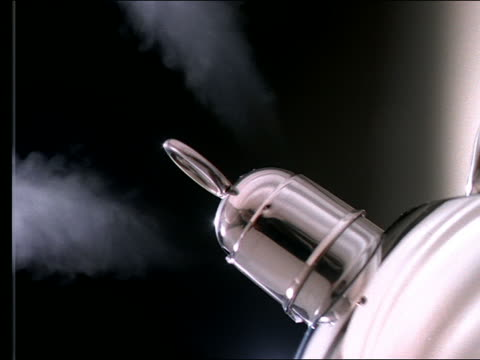 extreme close up of tea kettle steaming - tea kettle stock videos & royalty-free footage