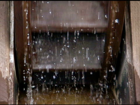 extreme close up of water wheel spinning 9 - watermill stock videos and b-roll footage