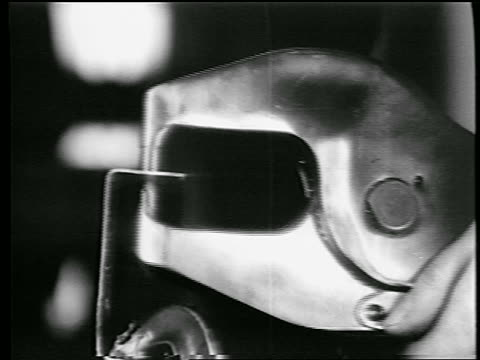 b/w 1944 extreme close up puncher riveting in defense plant / world war ii / industrial - 1944 stock videos and b-roll footage