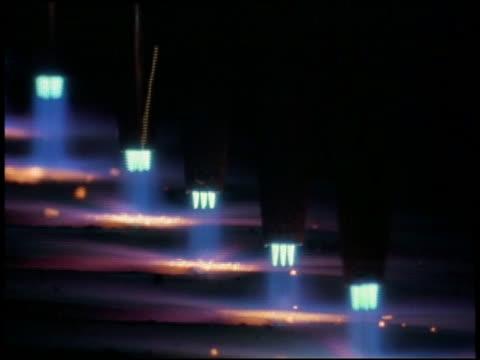 extreme close up row of cutting torches - einige gegenstände mittelgroße ansammlung stock-videos und b-roll-filmmaterial