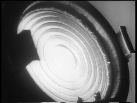 b/w 1952 extreme close up television light being turned on - spotlight stock videos & royalty-free footage