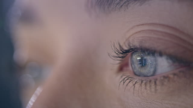 extreme close-up of blue human eye - anatomy stock videos & royalty-free footage