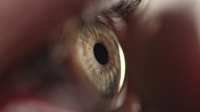 extreme close-up of blue human eye - close to stock videos & royalty-free footage
