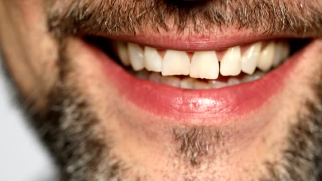 extreme close-up of mature man smiling - 50 54 years stock videos & royalty-free footage