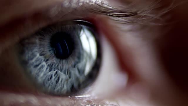 Extreme closeup on blue human eye