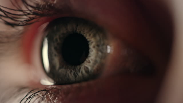 extreme closeup on blue human eye - cornea stock videos & royalty-free footage
