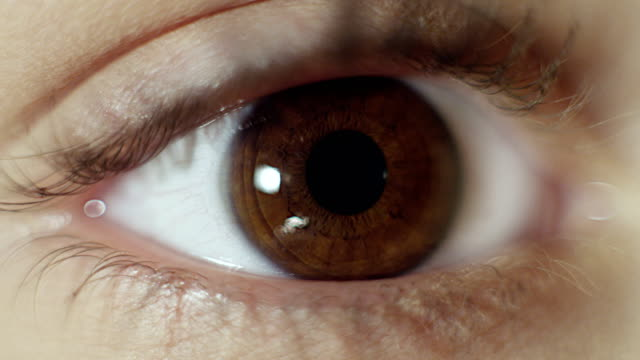 extreme closeup on brown human eye - brown stock videos & royalty-free footage