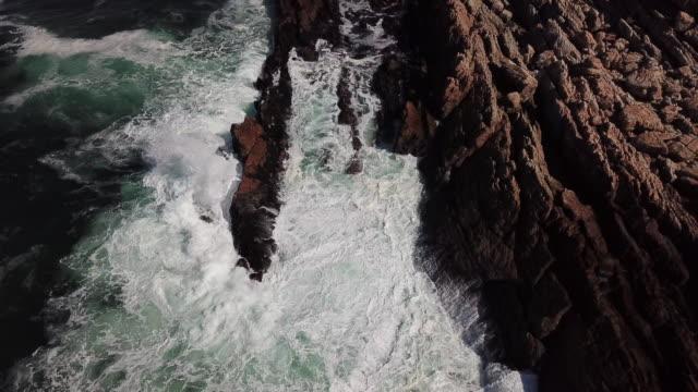 extreme coastal terrain - frangente video stock e b–roll