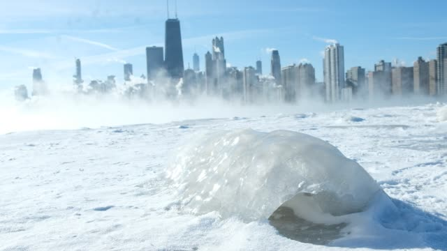 Extreme cold weather in Chicago while temperatures were hovering around 20 degrees and wind chills nearing 50 degrees on January 31 2019 in Chicago...