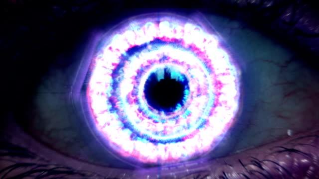 extreme eye zoom - unendlichkeit stock-videos und b-roll-filmmaterial