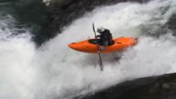 Extreme kayaking in Veracruz, Mexico, slow motion