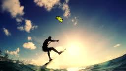 Extreme Kite Boarding Trick