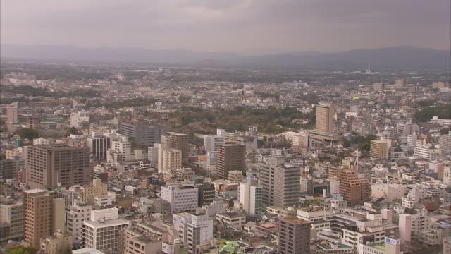 extreme long shot aerial static - aerial view of hamamatsu city, japan. / hamamatsu, japan - hamamatsu stock videos and b-roll footage