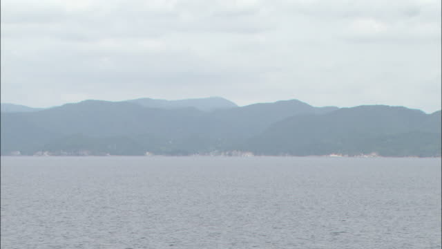 extreme long shot of the oki islands - shimane prefecture stock videos & royalty-free footage