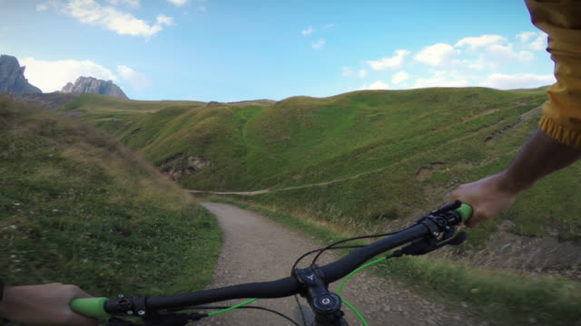 extreme pov mountainbiking on the alps - bmx cycling stock videos and b-roll footage