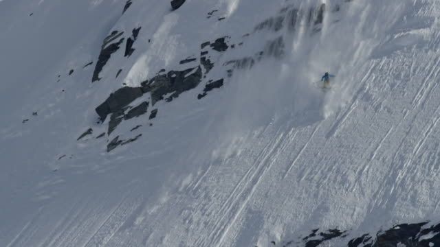 Extreme skiing crash in Alaska