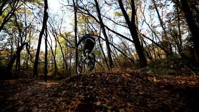 extreme sport in the nature - mountain biking stock videos and b-roll footage