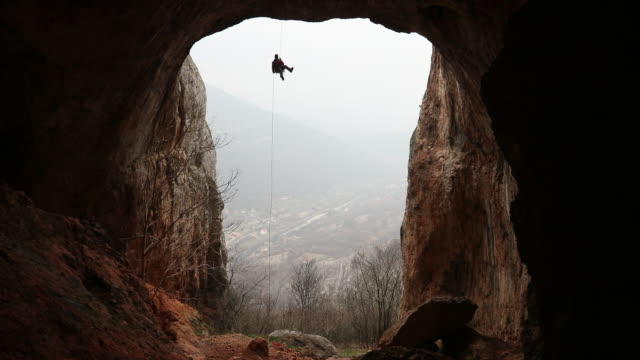 extreme sport lover - cave stock videos & royalty-free footage