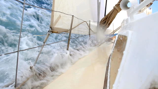 extreme sports - race on a yacht - mast sailing stock videos & royalty-free footage