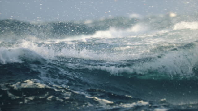 extreme stormy rough sea - small boat stock videos & royalty-free footage