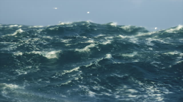 Extreme stormy rough sea