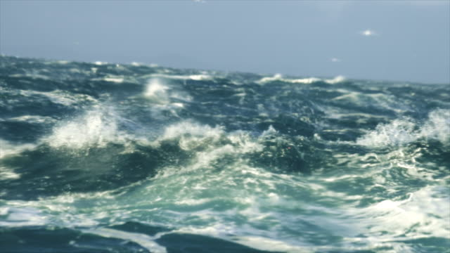 extreme stormy rough sea - nave a vela video stock e b–roll