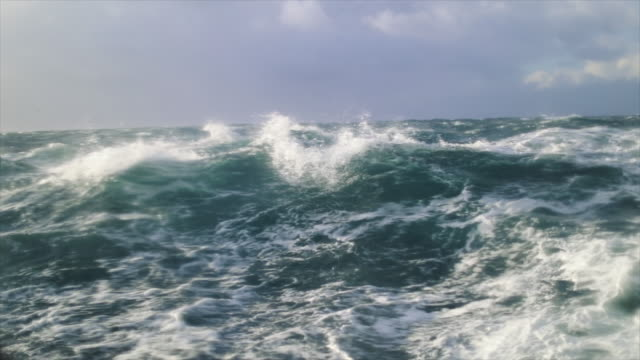 extreme stormy rough sea - power in nature stock videos & royalty-free footage