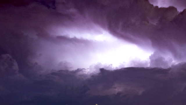 extreme weather: close up of insane lightning blolts - lightning stock videos & royalty-free footage