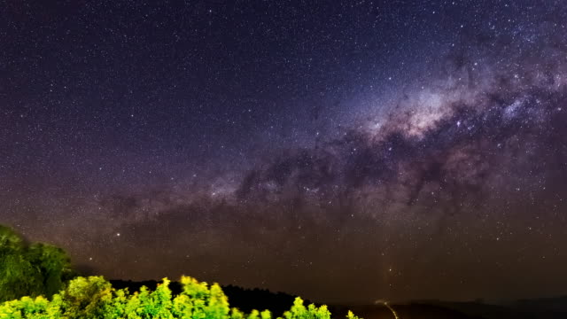 Extreme Weather Night timelapse with milky way and thunderstorms in Lamington NP, Australia