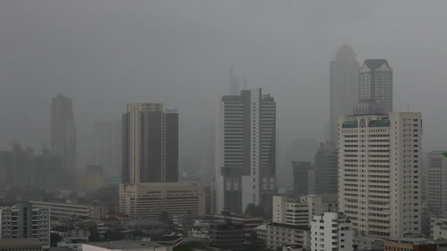 extreme weather - tl heavy rain covers bangkok. - 2013 stock videos & royalty-free footage