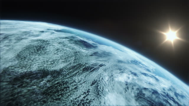 stockvideo's en b-roll-footage met extremely realistic and detailed earth zoom - uitzoomen