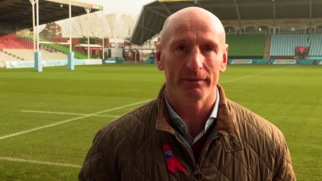 exwales rugby captain gareth thomas tells pa that the term stigma surrounding hiv testing isn't just 'a word' but rather 'a real thing that affects... - gareth thomas rugby player stock videos & royalty-free footage